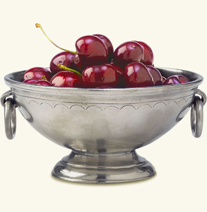 MATCH Pewter Deep, Footed Bowl with Rings Gifts