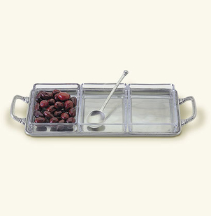 MATCH Pewter Crudité Tray with Handles Gifts