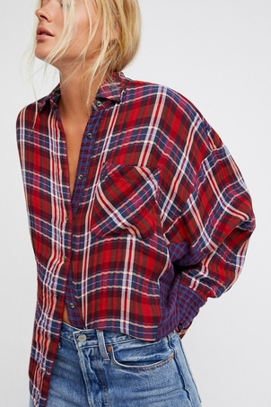 Free People One of the Guys Buttondown Tops