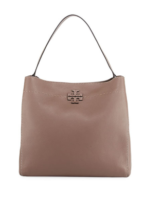 Tory Burch Tory Burch McGraw Hobo Bag in Silver Maple Bags