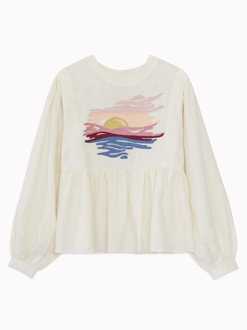 Bliss and Mischief Bliss & MIschief Sunset Peasant Blouse Tops