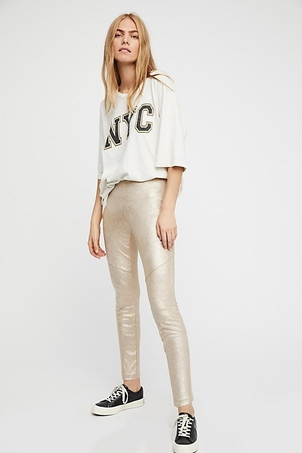 Free People Vegan Suede Legging Pants