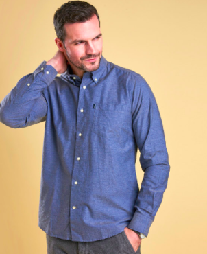 Barbour Oxford Tailored Dark Chambray Shirt Tops