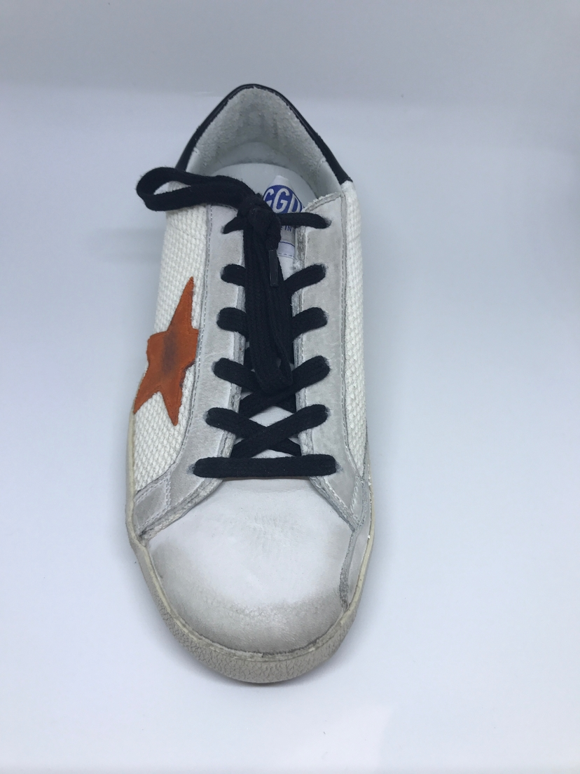 Golden Goose Deluxe Brand Golden Goose Superstar Sneaker Net w/ Orange Star Shoes