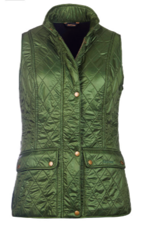 Barbour Wray Kelp Quilted Vest Outerwear