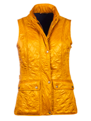 Barbour Wray Harvest Gold Quilted Vest Outerwear