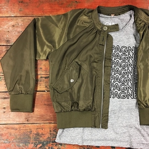 Free People Midnight Bomber Jacket Outerwear