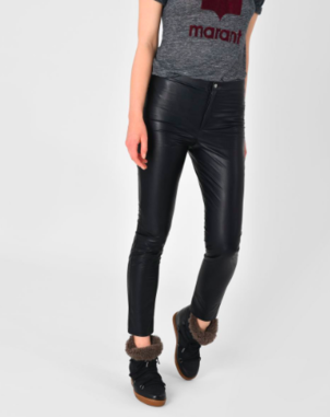 Isabel Marant Étoile Zeffery Faux Leather Trouser Pants