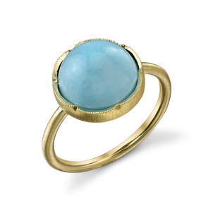 Irene Neuwirth 18K Yellow Gold Turquoise Ring Jewelry