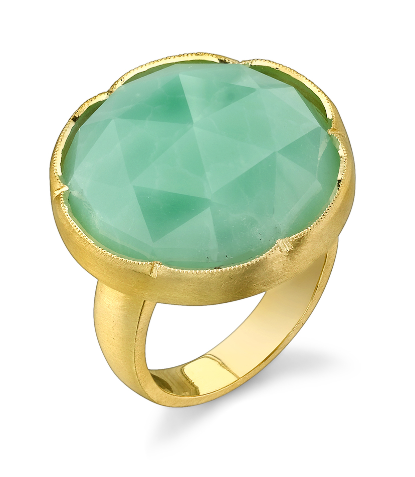 Irene Neuwirth Rose Cut Chrysoprase Ring Jewelry