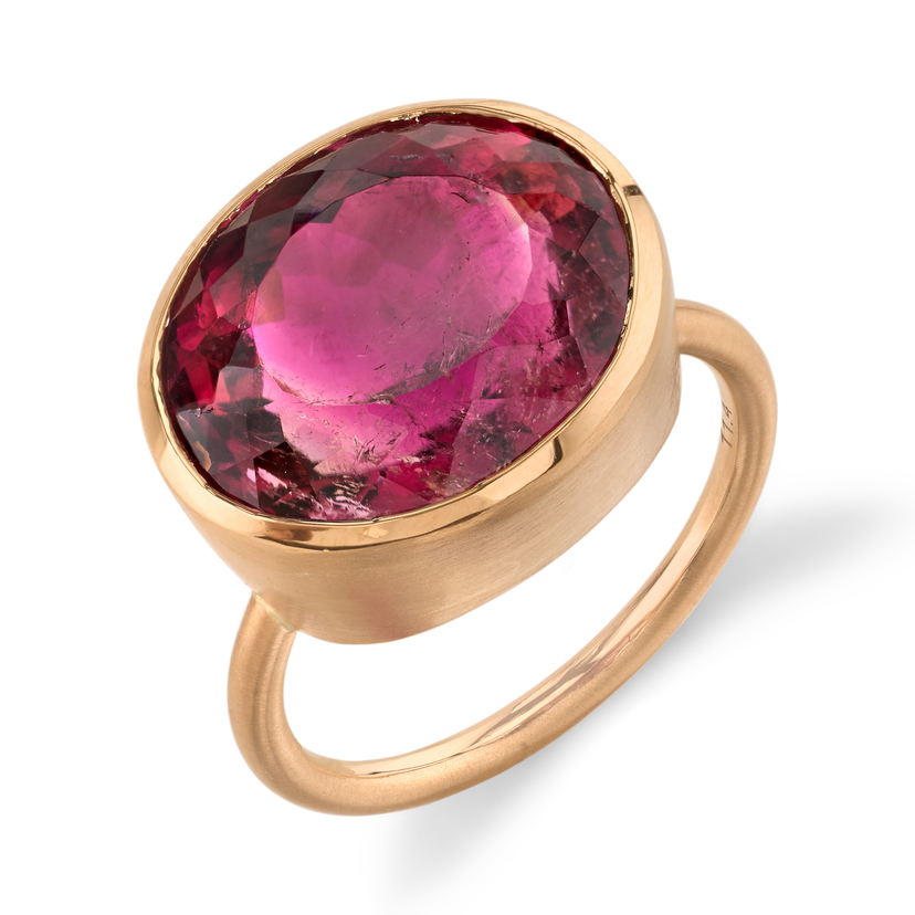 Irene Neuwirth Rose Gold Pink Tourmaline Ring Jewelry