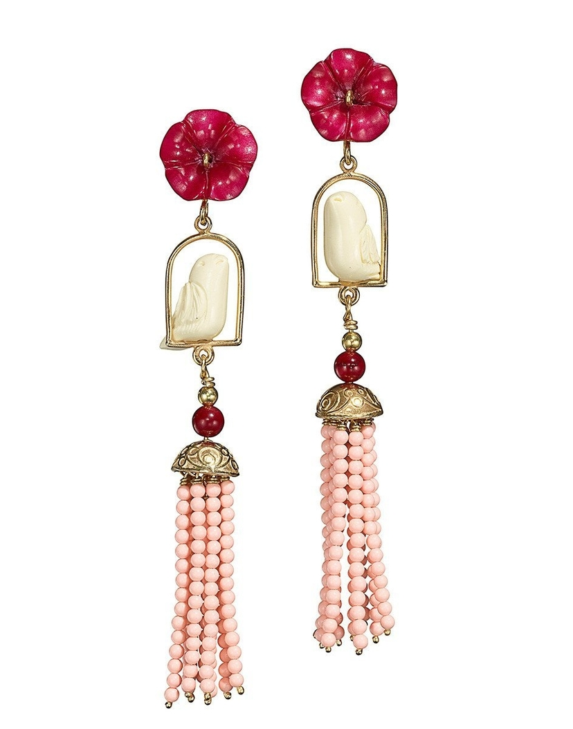 Of Rare Origin Pink Swingers Earrings Jewelry