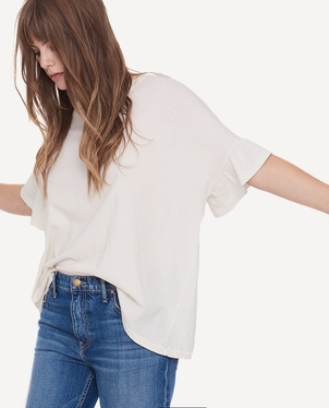The Great. The Ruffle Sleeve Tee Tops