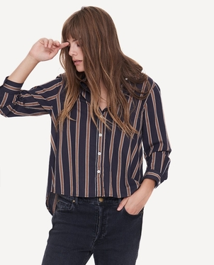 The Great. The Swing Oxford Blouse Tops