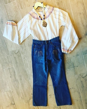 Bliss and Mischief Bliss & Mischief Top and Jean Pants Tops