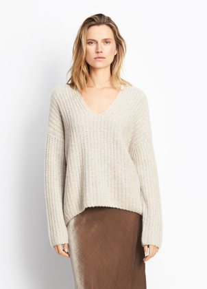 Vince Deep V-Neck Pullover Tops