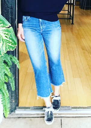 Moussy Denim Moussy Denim Ely Cropped Flare Jean Pants
