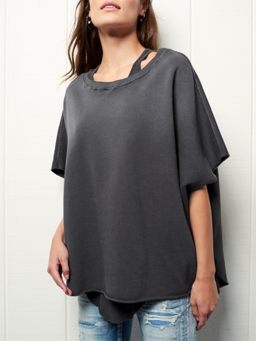 Tee Lab by Frank & Eileen Tee Lab Poncho in Grey Tops