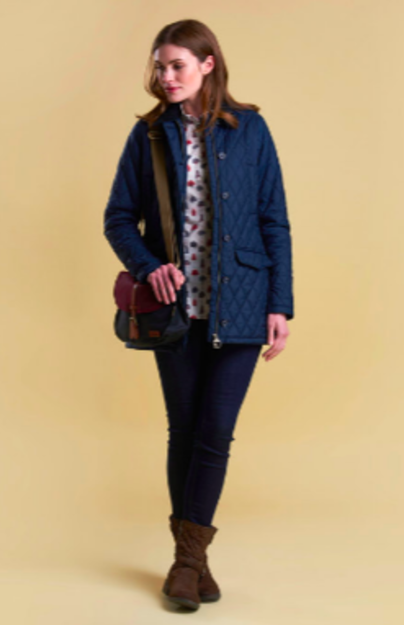 Barbour Barrowdale Quilted Navy Jacket