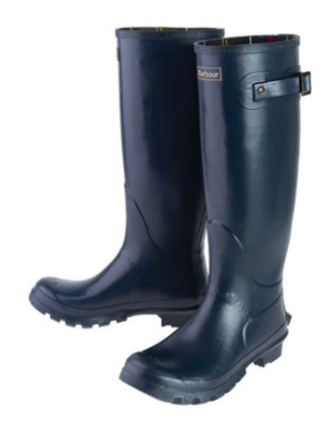 Barbour Bede Navy Wellingtons