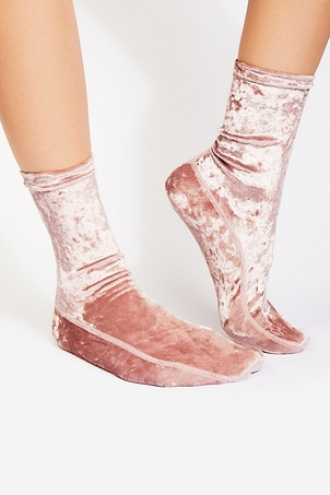 Free People Go Go Velvet Socks Accesories