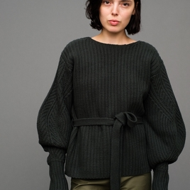 Classic Sweater with Voluminous Sleeve
