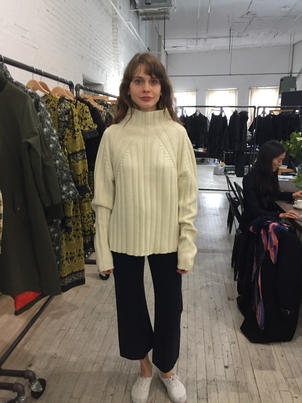 Sea Cream Turtleneck Sweater Tops