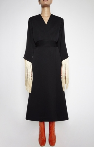 Ellery Ellery Wide Tassel Sleeve Dress Dresses