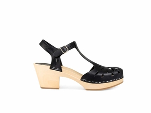 Swedish Hasbeens Lacy Sandal in Black (Originally $209) Gifts Sale Shoes