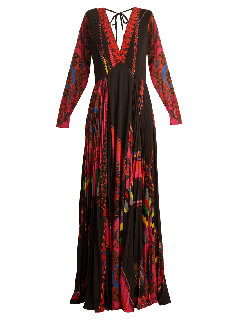 Etro Long Sleeve Deep V Printed Gown (Originally $4,210) Dresses Sale