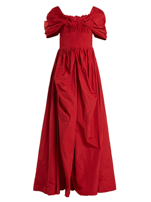 Brock Collection Red Off the Shoulder Gown Dresses