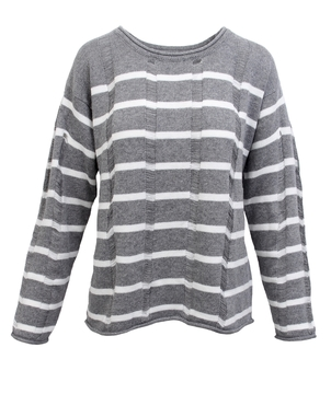 0 degrees celsius Striped Shred Pullover Tops