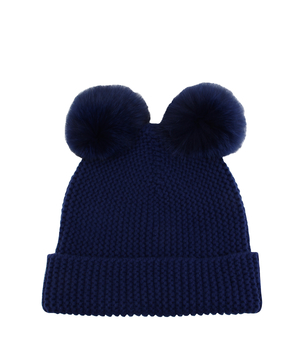Autumn Cashmere Double Fur Pom Pom Hat Accessories