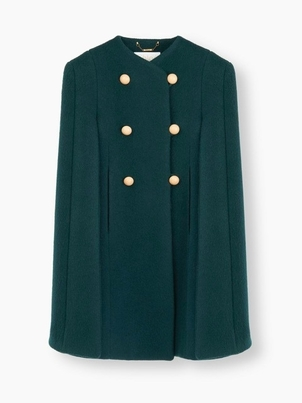 Chloé Chloè Double Breasted Cape Coat Outerwear