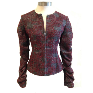 Donna Degnan Donna Degnan Ruched Sleeve Cardigan Jacket Outerwear
