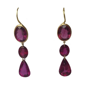 "Marie-Hélène de Taillac Pink Tourmaline ""Elizabeth T"" Earrings Jewelry"