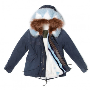 Mr. & Mrs. Italy Saline Night Blue Parka Outerwear
