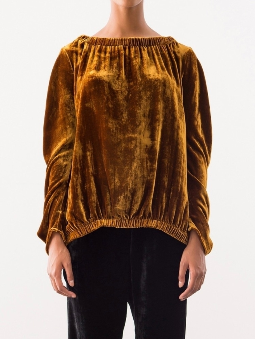 Zero + Maria Cornejo Velvet Bubble Top Tops