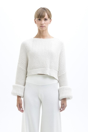 New Form Perspective Wide Sleeve Pullover Tops