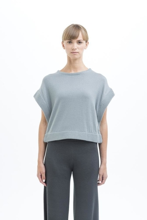 New Form Perspective Side Snap Sweater Tops