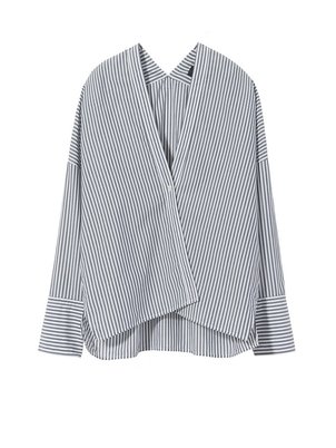 Nili Lotan Sabine Shirt in Stripe Tops