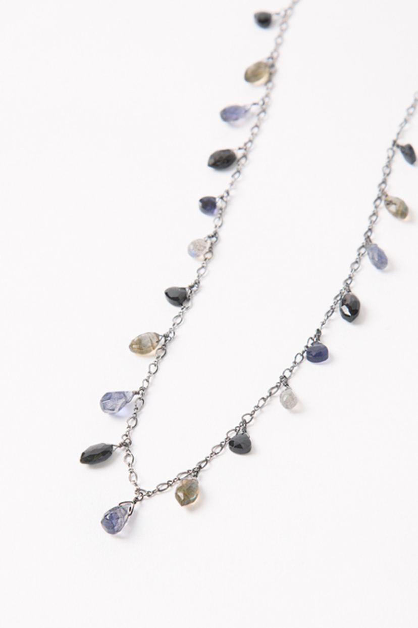 Chan Luu Iolite Mix Marquise Layering Necklace Jewelry