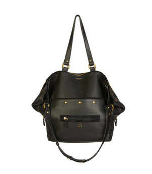 Jerome Dreyfuss Jerome Dreyfuss Serge New Calfskin in Noir Brass Bags