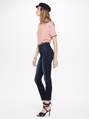 Mother High Waisted Looker Ankle Fray Pants