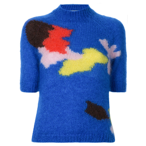 Delpozo Intarsia Ragan Sweater Tops