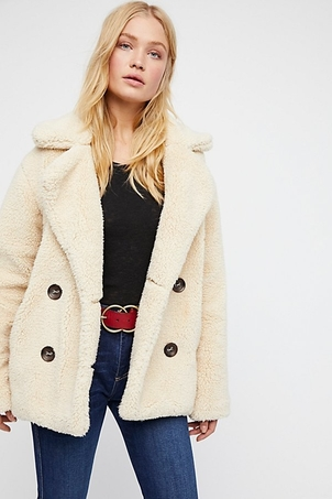 Free People Teddy Peacoat Outerwear