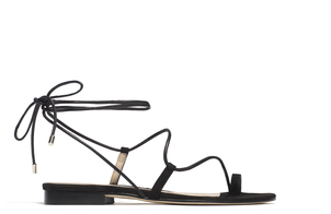 Emme Parsons Susan Black Lace Up Sandal Shoes