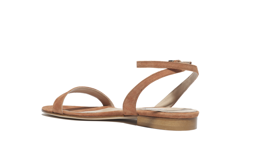 Emme Parsons One Tan Suede Sandal Shoes