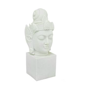Three Hands Decorative White Resin Buddha With Base Home decor