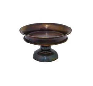 Three Hands Metal Pedestal Bowl Home decor